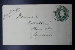 Transvaal Cover HG3  133:83 Mm Heidelberg -> Pretoria 20-9-1906 - Transvaal (1870-1909)