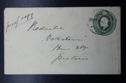 Transvaal Cover HG3  133:83 Mm Heidelberg -> Pretoria 20-9-1906 - África Del Sur (...-1961)