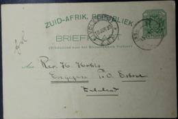Transvaal Postcard P5  INSHLASJOTJE -> ENYZEZENE  Putzel RRR - Sud Africa (...-1961)