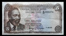 # # # Banknote Kenia (Kenya) 5 Schillingi 1971 # # # - Kenya