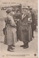 Z4- CROQUIS DE GUERRE 1914 - INFIRMIERE CAUSANT AVEC LADY DOROTHY FIELDING 5° FILLES DU COMTE DE DEMBIGH - 2 SCANS - Oorlog 1914-18