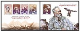 Guinea Bissau 2014 Jules Verne Klb+s/s MNH - Schriftsteller