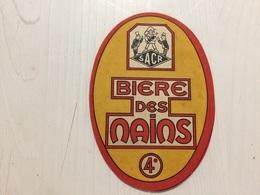 Ancienne Étiquette 1.1 BIÈRE SACR BIÈRE DES NAINS - Bière