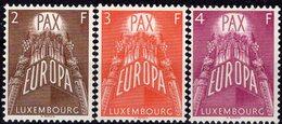 CEPT 1957 Luxemburg 572/4 ** 120€ Kohle-Bergwerk Ähren Symbolic Komplett Serie PAX In EUROPA EXPO Set Bf Luxembourg - Europa-CEPT