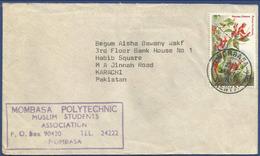 KEYNA POSTAL USED AIRMAIL COVER TO PAKISTAN - Kenya (1963-...)