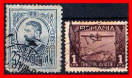 RUMANIA  -- ROMANIA -- R.P. ROMINA ( EUROPA ) SELLOS 1908 AND 1931 KING KARL I  --  AIRPLANE  ( Usados ) - Oblitérés