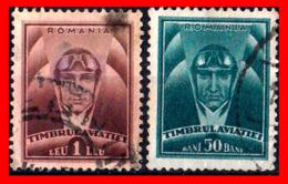 RUMANIA  -- ROMANIA -- R.P. ROMINA ( EUROPA ) SELLOS  1931 HEAD OF AVIATOR AND   ( Usados ) - Aéreo