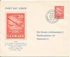 Denmark FDC 29-10-1943 DDL 25th Anniversary With Cachet - FDC
