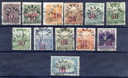 BARANYA 1919 (Dec.) Overprints (13)  Used..  Michel 46-60 - Baranya