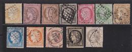 France Timbre Type Cérès Lot De 12 Timbres Oblitérés - 1849-1850 Cérès