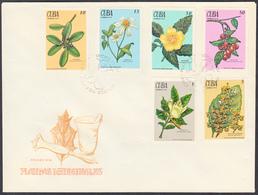 CUBA 1970, FLORA, COLORS Of MEDICINAL PLANTS - FDC