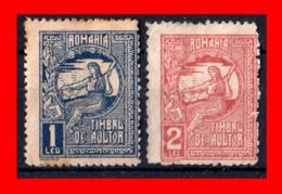 HUNGRIA -- MAGYAR POSTA ( EUROPA )  SELLOS AÑO 1906   FISCALES   ( Usados ) - Rumania