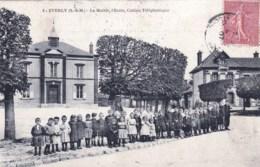77 - Seine Et Marne - EVERLY - La Mairie - L Ecole  - Cabine Telephonique - Sonstige Gemeinden