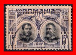 HUNGRIA -- MAGYAR POSTA ( EUROPA )  SELLO AÑO 1906  1906 THE 40TH ANNIVERSARY KING KARL'S CORONATION   ( USADO ) - Rumania