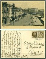 V9630 ITALIA REGNO 1943 Propaganda Di Guerra 30 C. Isolato Su Cartolina Da Sebenico(Sibenik Hrvatska) 28.4.42 Per Rimini - 1900-44 Vittorio Emanuele III