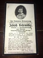 Sterbebild Wk1 Ww1 Bidprentje Avis Décès Deathcard RIR12 AILLES CERNY EN LAONNOIS Aus Aufroth - 1914-18