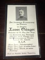 Sterbebild Wk1 Ww1 Bidprentje Avis Décès Deathcard RIR13 ST. JOHANN 21. Oktober 1915 - 1914-18
