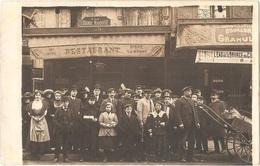 """Dépt 75 - PARIS (58, Rue Du Faubourg Saint-Martin) - CARTE-PHOTO Devanture Restaurant """"À LA GRANDE MARQUISE"""" (P. RIOL) - Arrondissement: 10"""