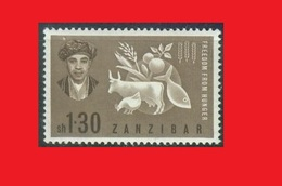 Zanzibar 1963, Faim Poule  / Aviculture Agriculture / Hunger Hen / Avicultura MNH ** - Gallinacées & Faisans