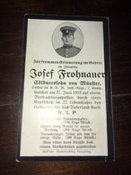 Sterbebild Wk1 Ww1 Bidprentje Avis Décès Deathcard IR20 FAY Vermandovillers Auf Beobachtungsposten Aus Münster - 1914-18