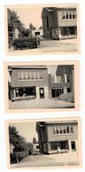 Boechout Glazenmaker Louis Amsons Kroonstraat (3 Foto's 9x6 Cm) - Boechout