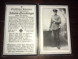 Sterbebild Wk1 Ww1 Bidprentje Avis Décès Deathcard Mazedonien ELISABETHENBERG Bei Waldhausen 19. Oktober 1917 Fürholz - 1914-18