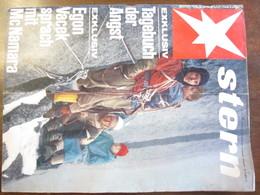 MAGAZINE STERN SEPTEMBER 1966  N 39 TAGEBUCH DER ANGST EGON VACEK SPRACH MIT MCNAMARA - Voyage & Divertissement