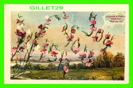 FLEURS, FLOWERS - LANGUAGE OF FLOWERS - SWEET PEA, WISH YOU JOY - TRAVEL IN 1909 - - Fleurs