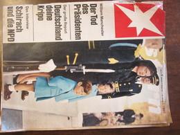 MAGAZINE STERN FEBRUAR 1967  N 8 DER TOD DES PRASIDENTEN DEUTSCHLAND DEINE KRIPO SCHIRACH UND DIE NPD - Travel & Entertainment