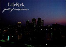 Arkansas Little Rock Skyline At Night - Little Rock