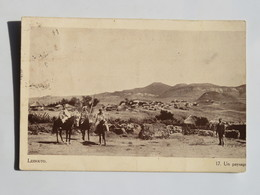 C.P.A. : LESOTHO LESSOUTO Un Paysage, Animé, Timbre En 1938 - Lesotho