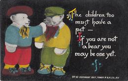 Two Cute Teddy Bears - Children Pet - Vintage Postcard - Unused - Canadian Souvenir - 2 Scans - Humour