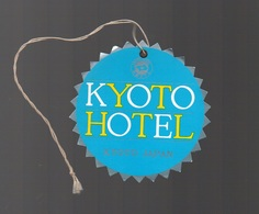 Etiquette De L'Hôtel Kyoto Hôtel Kyoto Japan Avec Cordon D'attache - Factures & Documents Commerciaux