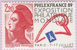 N° Yvert & Tellier 2524 - Timbre De France (Année 1988) - MNH - ''Philexfrance'89'' - Francia