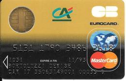 -CARTE+-PUCE-MAGNETIQUE-CB-CREDIT CREDIT AGRICOLE -MASTERCARD-11/93-OBBERTHUR-ICA- 1031-05/91-TBE-RARE - Frankreich
