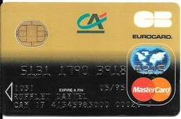 -CARTE+-PUCE-MAGNETIQUE-CB-CREDIT CREDIT AGRICOLE -MASTERCARD-05/95-OBERTHUR-ICA- 1031-MP8/11/92-TBE-RARE - France