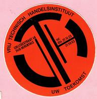 Sticker - Vrij Technisch Handelsinstituut - Collegestraat Herentals - VTH - Autocollants