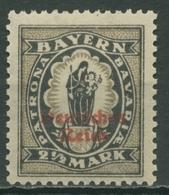 Deutsches Reich 1920 Bayern-Abschiedss. M. Aufdruck Steindruck 133 II Postfrisch - Deutschland