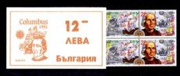 EUROPA 1992 - BULGARIE - CARNET Yvert C3445 - NEUF** MNH - Europa, Christophe Colomb - Europa-CEPT