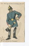 CPA - Satirique Caricature Guerre 14-18 Patriotique Germany Kaiser - Champagne Liège - Circulée - Satirical