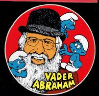 Sticker - Vader Abraham Met 3 Smurfen - Autocollants