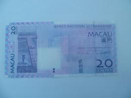 Billet Macao / Macau 20 Patagas - Macao