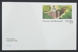 1989 Postal Card, America The Beautiful, Philadelphia, Mint, United States Of America, USA - Entiers Postaux