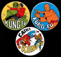 Sticker - KUNG-FU - CAINE - 3 Stuks - Autocollants