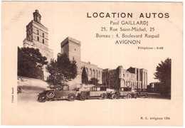 CPA VAUCLUSE.AVIGNON.LOCATION AUTOS PAUL GAILLARD.25 RUE SAINT MICHEL - Avignon