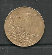 ESTLAND Estonia 1934 - 1 Kroon Coin Wiking Ship - Estonia