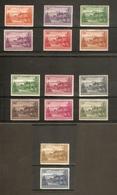 NORFOLK ISLAND 1947 - 1959 SET OF 14 STAMPS SG 1/12a (LIGHTLY) MOUNTED MINT Cat £35 - Norfolk Island