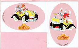 Sticker - CORONA - Disney/Amblin - 2 Stuks - Autocollants