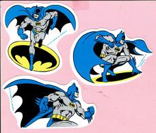 Sticker - TM & DC COMICS INC. 1989 - Badman - 3 Stuks - Autocollants