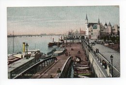 Belgique: Anvers, Antwerpen, Debarcadere Et Le Steen, Bateau (19-410) - Antwerpen